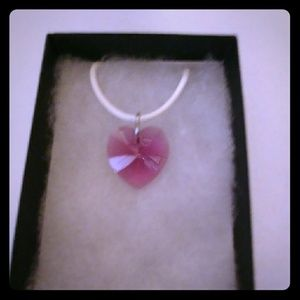Jewelry - Spring Rose Crystal Heart Necklace